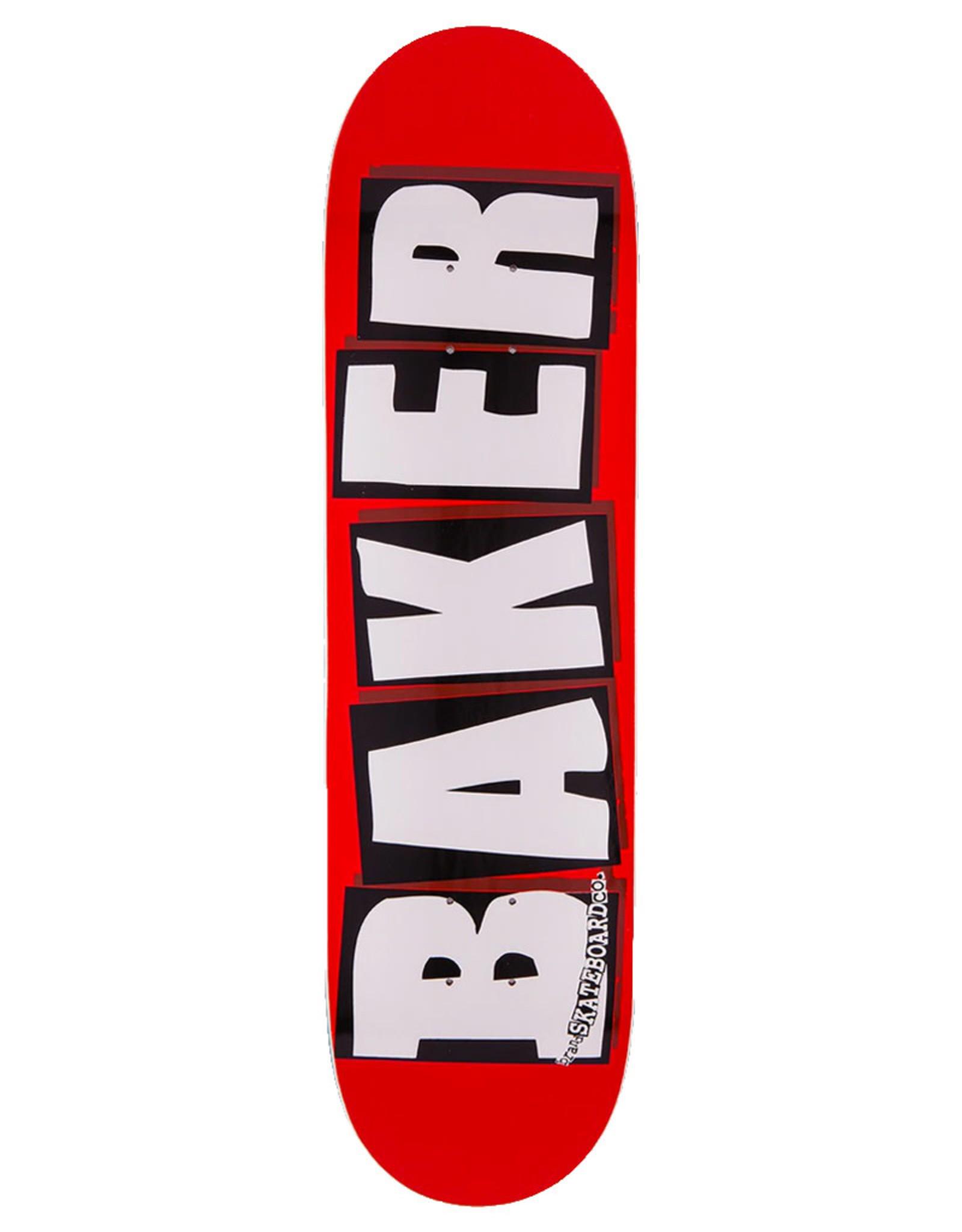 Baker Baker Deck Team Brand Logo Red/White (8.0)