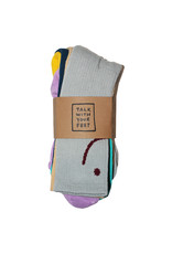 Talk Hardware Talk Socks Talk With Your Feet Mismatched Crew (3-Pack)