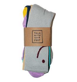 Talk Hardware Talk Socks Talk With Your Feet Mismatched Crew (3-Pack)