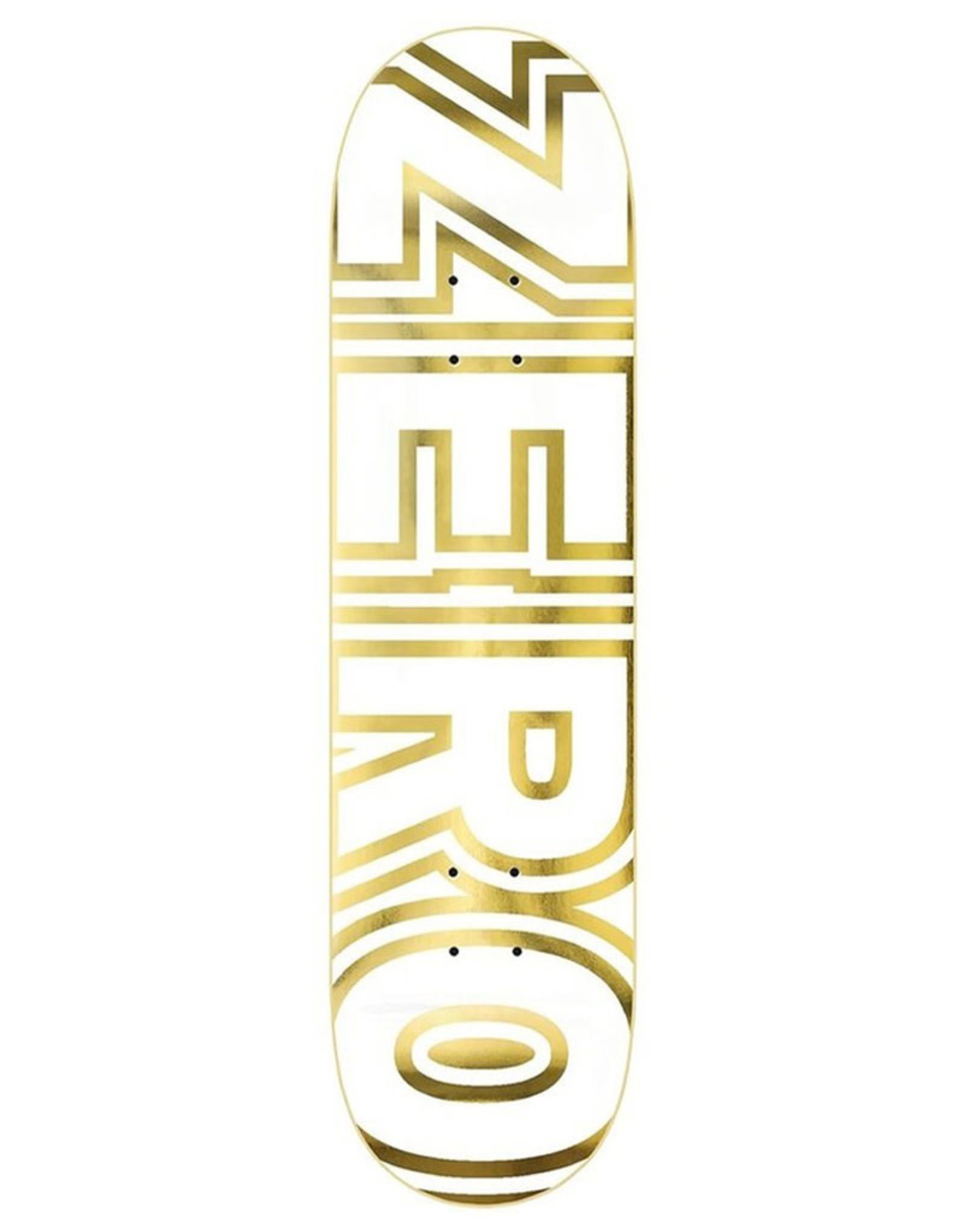 Zero Skateboards Zero Deck Team Bold White/Gold (8.25)