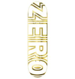 Zero Skateboards Zero Deck Team Bold White/Gold (8.5)