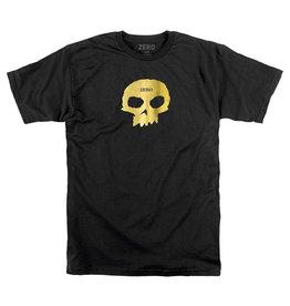 Zero Tee Gold Single Skull S/S (Black)