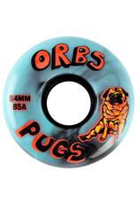 Orbs Wheels Orbs Wheels Pugs Black/Blue Swirl (54mm/85a)