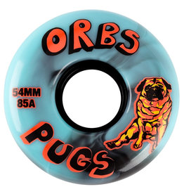 Orbs Wheels Orbs Wheels Pugs Black/Blue Swirl (54mm/85a)