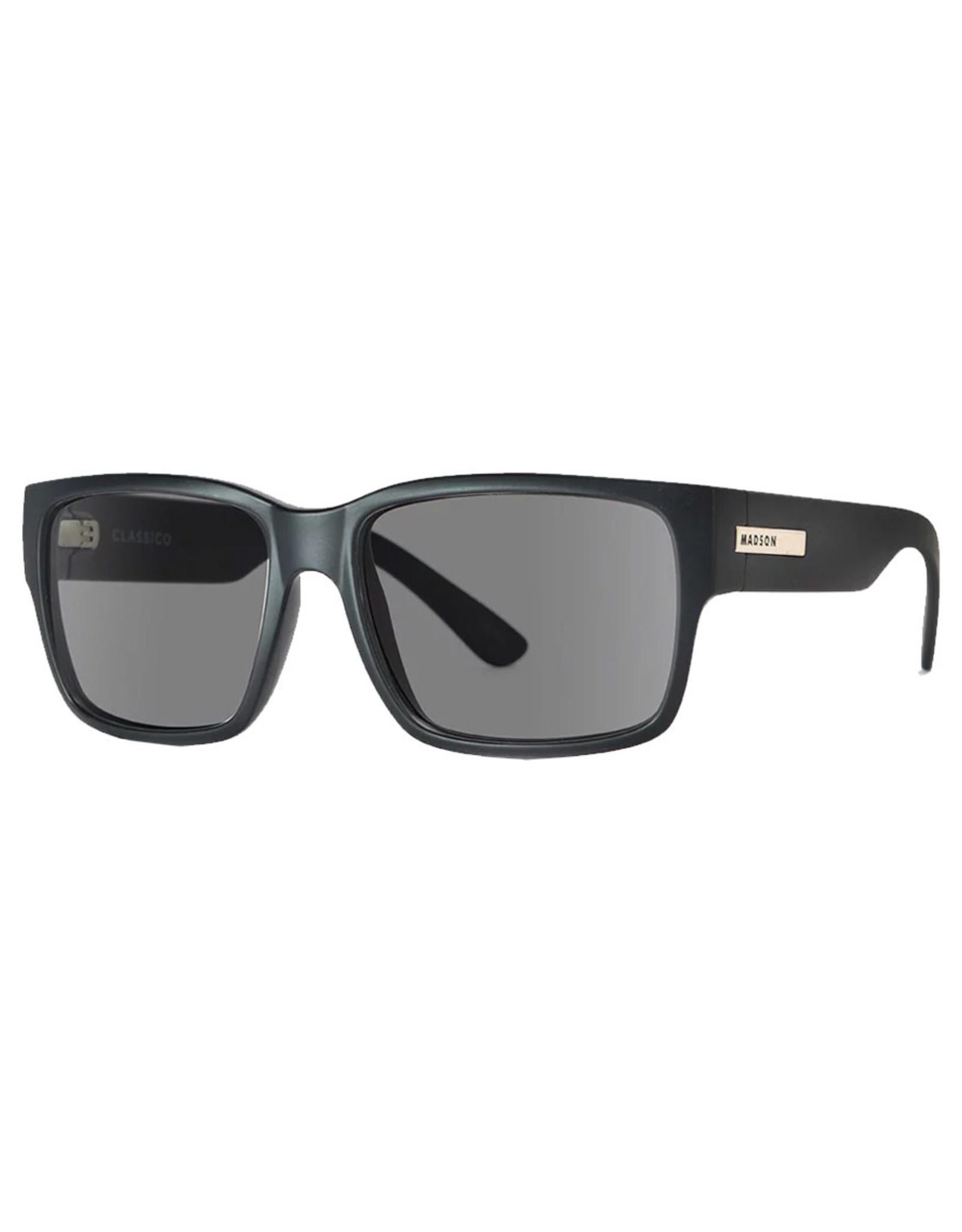 Madson Madson Sunglasses Strut (Black Matte/Grey Polarized Lens)
