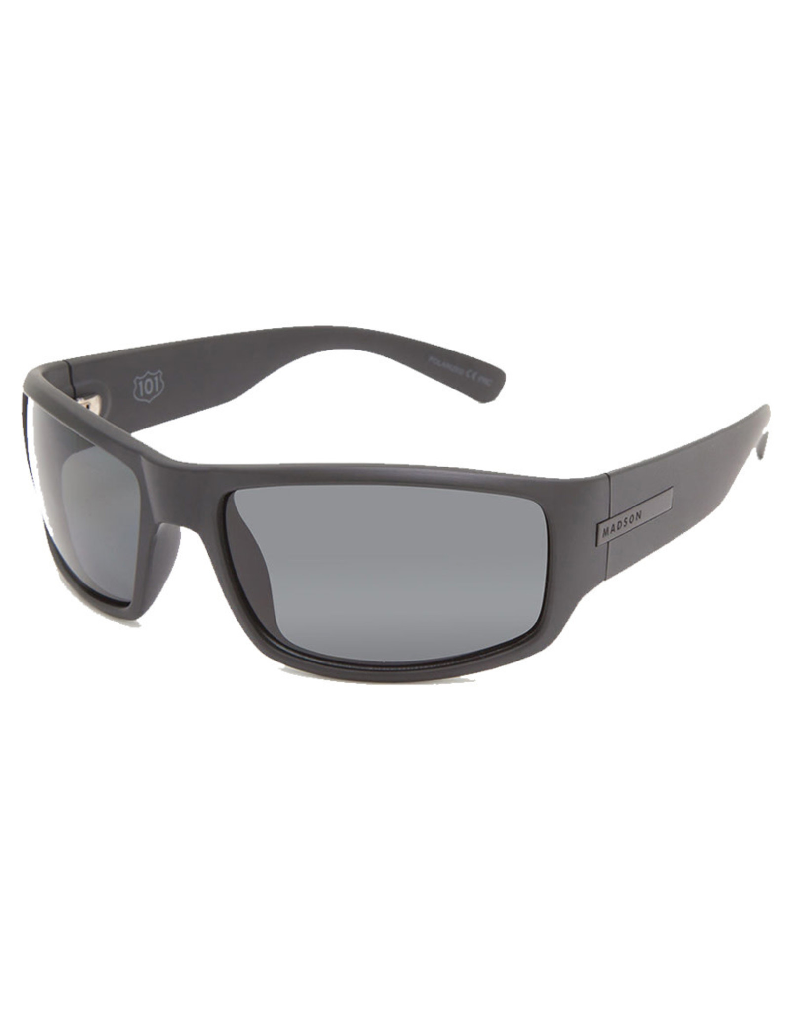 Madson Madson Sunglasses Camino (Black Matte/Grey Polarized Lens)