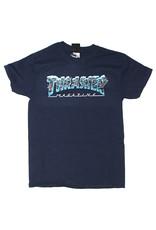 Thrasher Thrasher Tee Mens Black Ice S/S (Navy Blue)