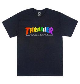 Thrasher Thrasher Tee Mens Rainbow Mag S/S (Black)