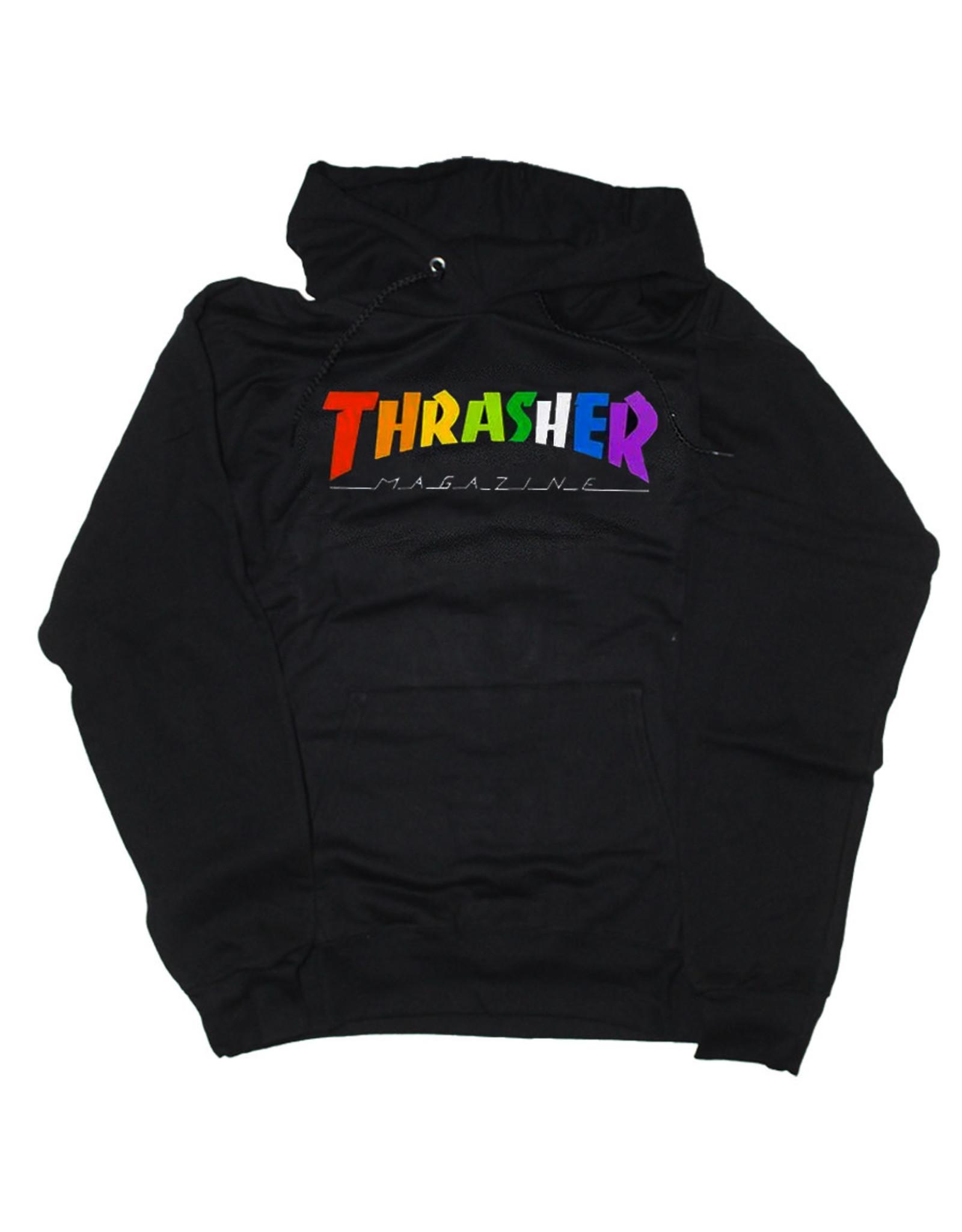 Thrasher Thrasher Hood Mens Rainbow Mag (Black)