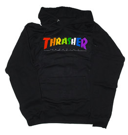 Thrasher Thrasher Hood Mens Rainbow Mag (Black)