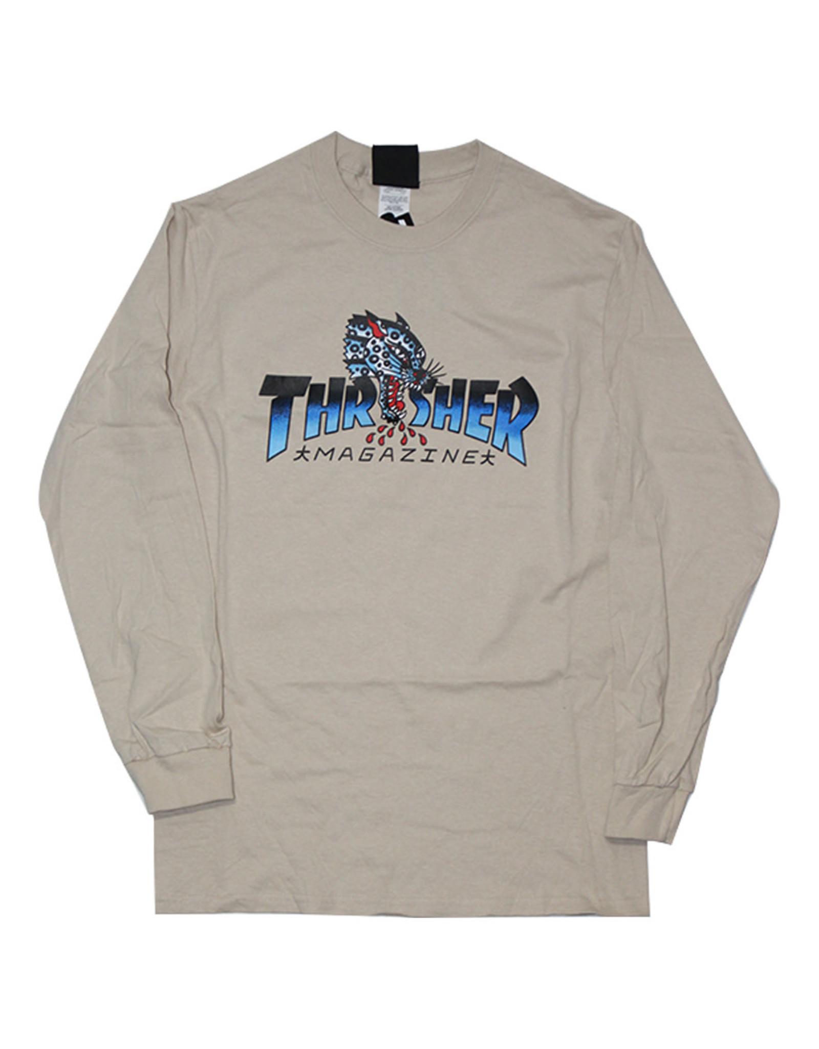 Thrasher Thrasher Tee Mens Leopard Mag L/S (Sand)