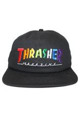 Thrasher Thrasher Hat Rainbow Mag Snapback (Black)