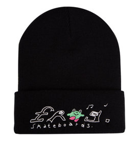 Frog Frog Beanie Happy Dirty (Black)
