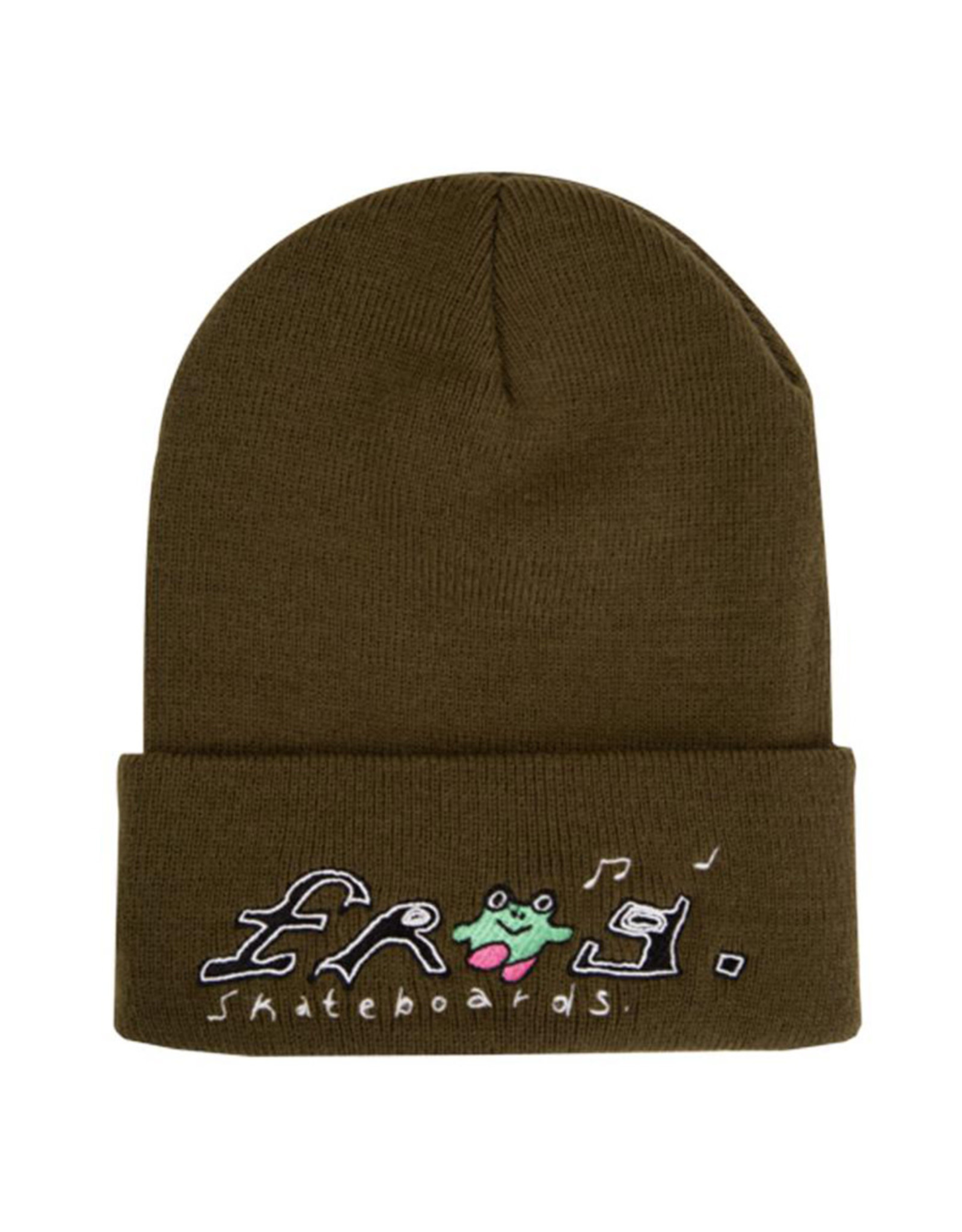 Frog Frog Beanie Happy Dirty (Olive)
