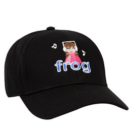 Frog Frog Hat Im Not Listening 6 Panel Strapback (Black)