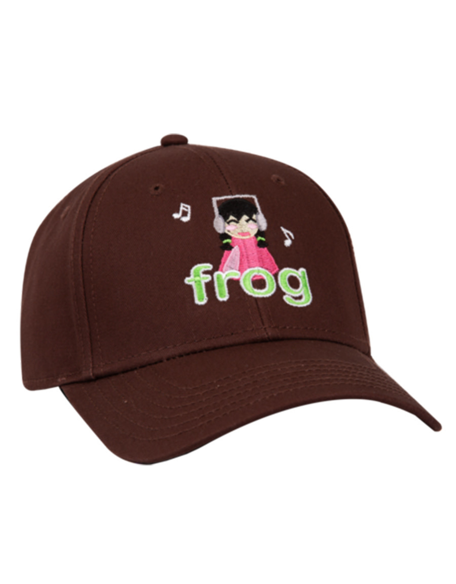 Frog Frog Hat Im Not Listening 6 Panel Strapback (Brown)