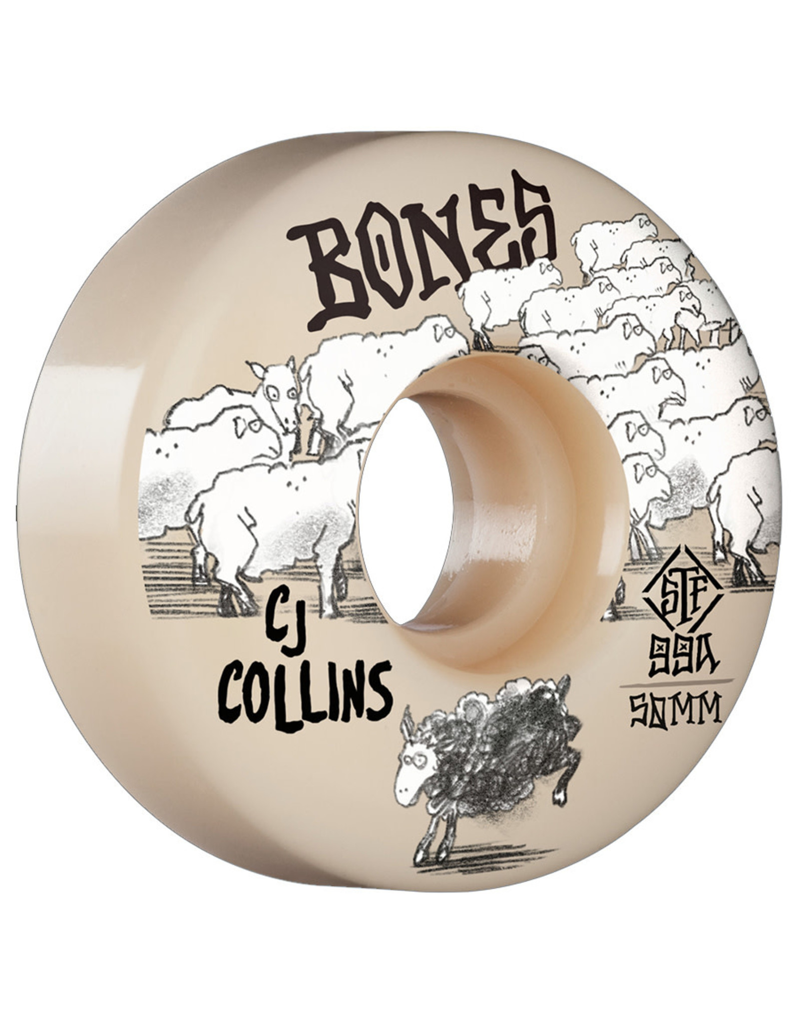 Bones Bones Wheels STF Collins Black Sheep V3 Slims White (50mm/99a)