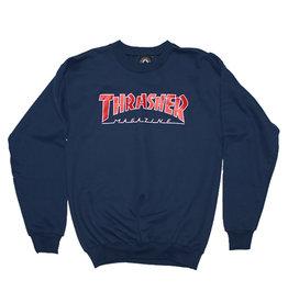 Thrasher Thrasher Crew Mens Outlined (Navy Blue)