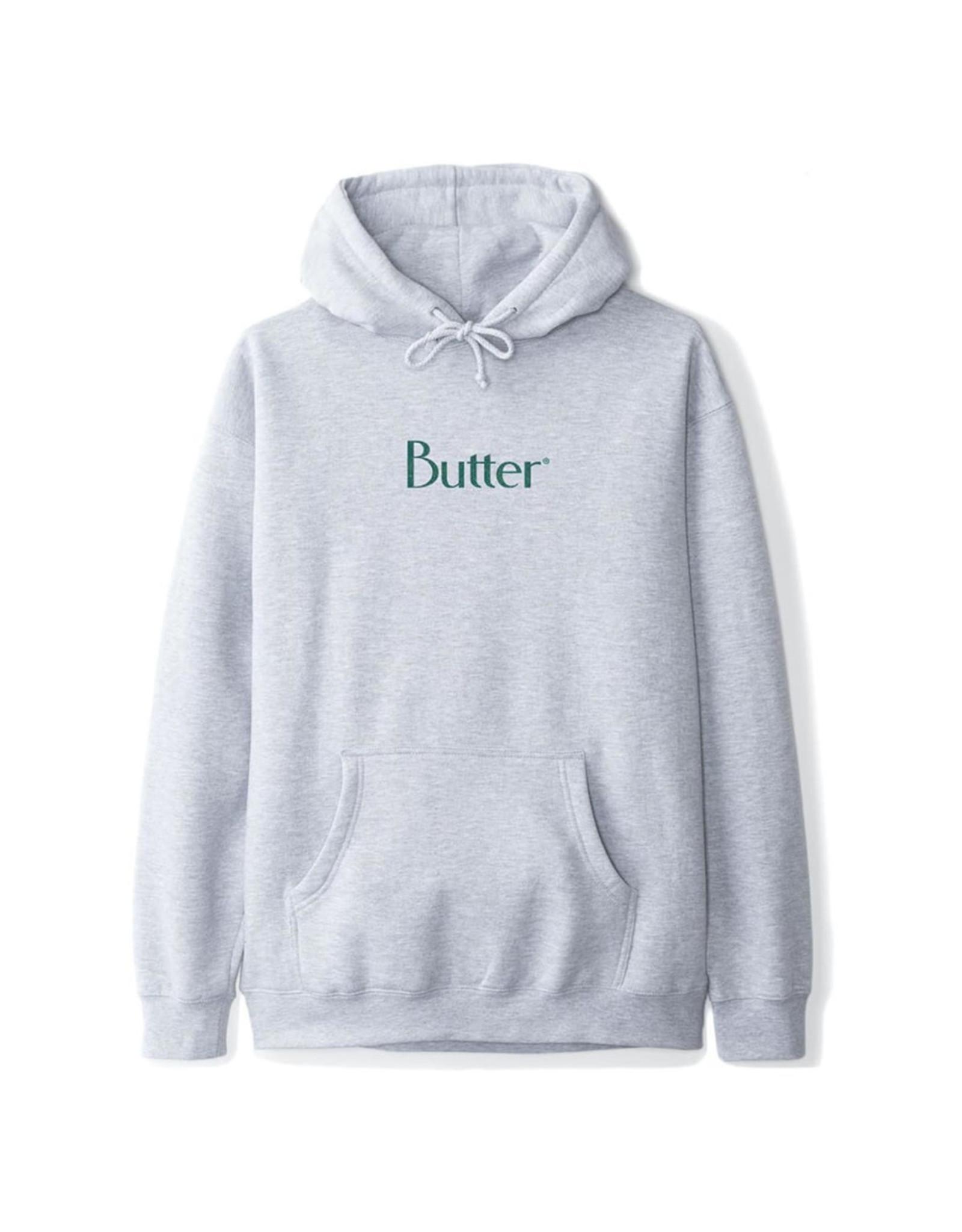 Butter Goods Butter Goods Hood Speckle Classic Logo Pullover (Ash Grey)
