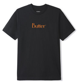 Butter Goods Butter Goods Tee Speckle Classic Logo S/S (Black)