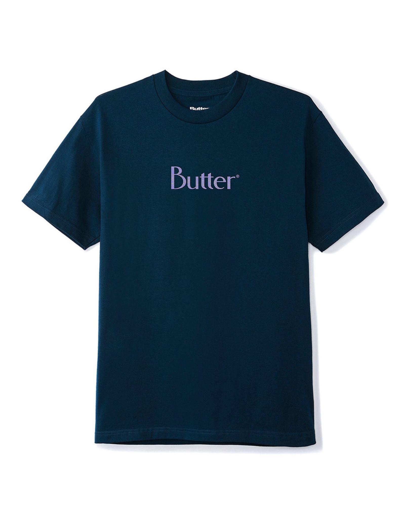 Butter Goods Butter Goods Tee Speckle Classic Logo S/S (Navy)
