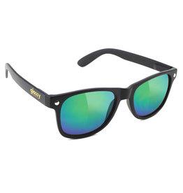 Glassy Sunglasses Glassy Sunglasses Leonard (Black Matte/Green Mirror Polarized Lens)
