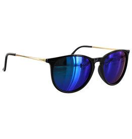 Glassy Sunglasses Glassy Sunglasses Sierra (Black Gold/Blue Mirror Polarized Lens)