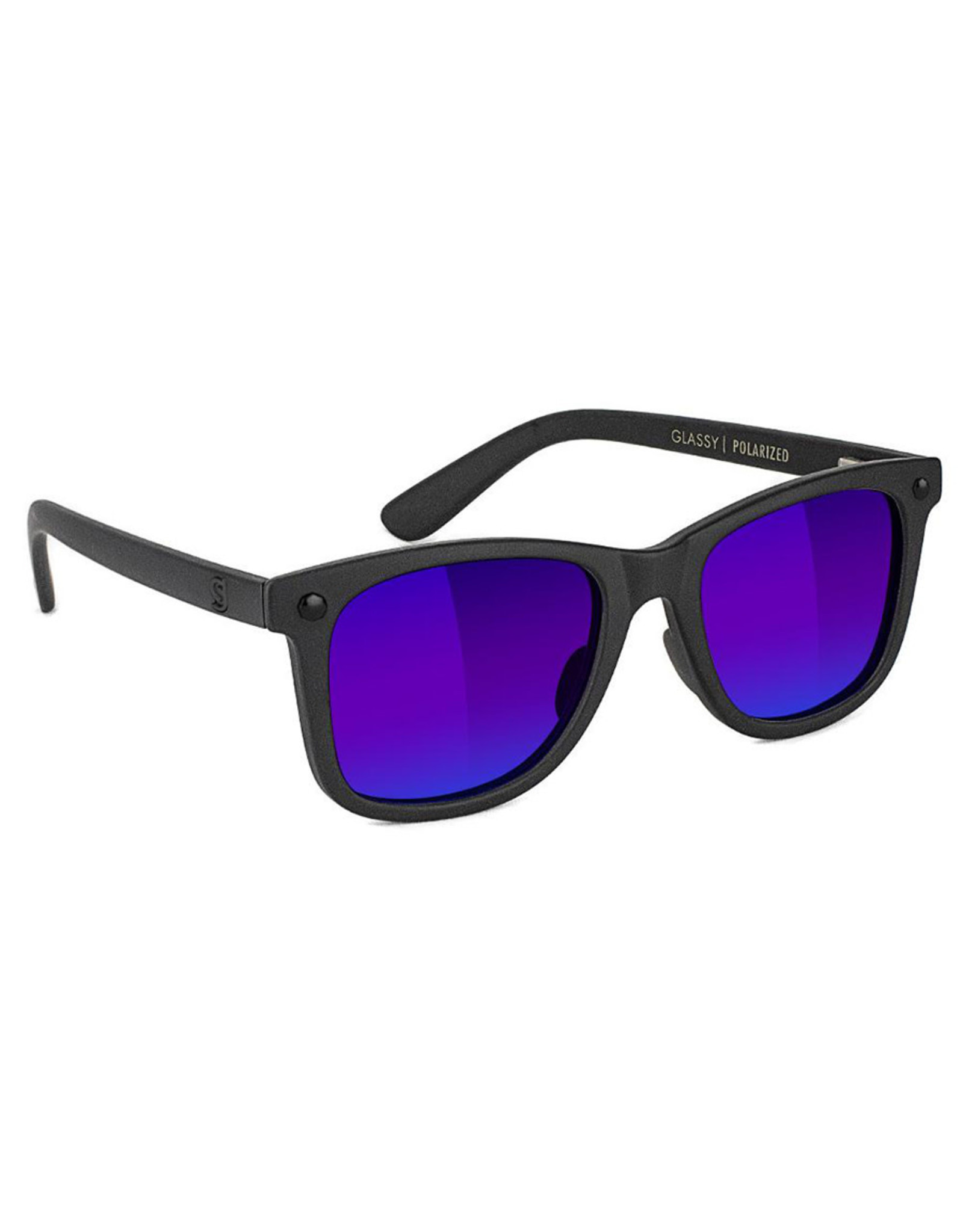 Glassy Sunglasses Glassy Sunglasses Mikemo Premium (Black Matte/Blue Mirror Polarized Lens)