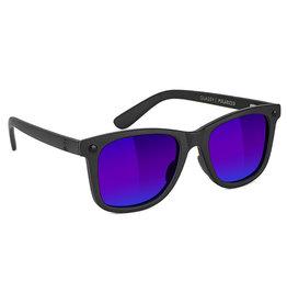 Glassy Sunglasses Glassy Sunglasses Mikemo Premium (Black Matte/Blue Mirror Polarized Lens)