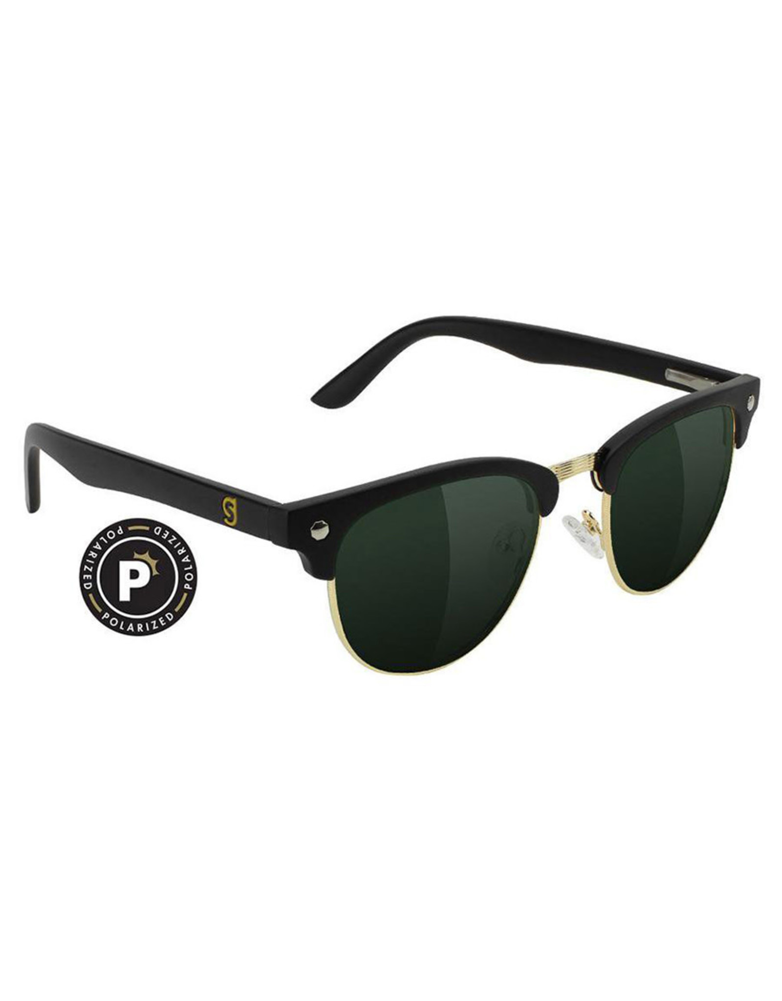 Glassy Sunglasses Glassy Sunglasses Morrison (Black Gloss/Brown Polarized Lens)