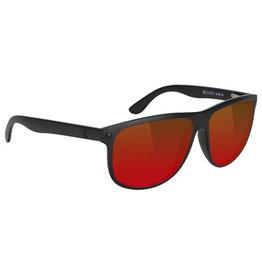 Glassy Sunglasses Glassy Sunglasses Cole Premium (Black Matte/Red Mirror Polarized Lens)