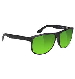 Glassy Sunglasses Glassy Sunglasses Cole Premium (Black Matte/Green Mirror Polarized Lens)