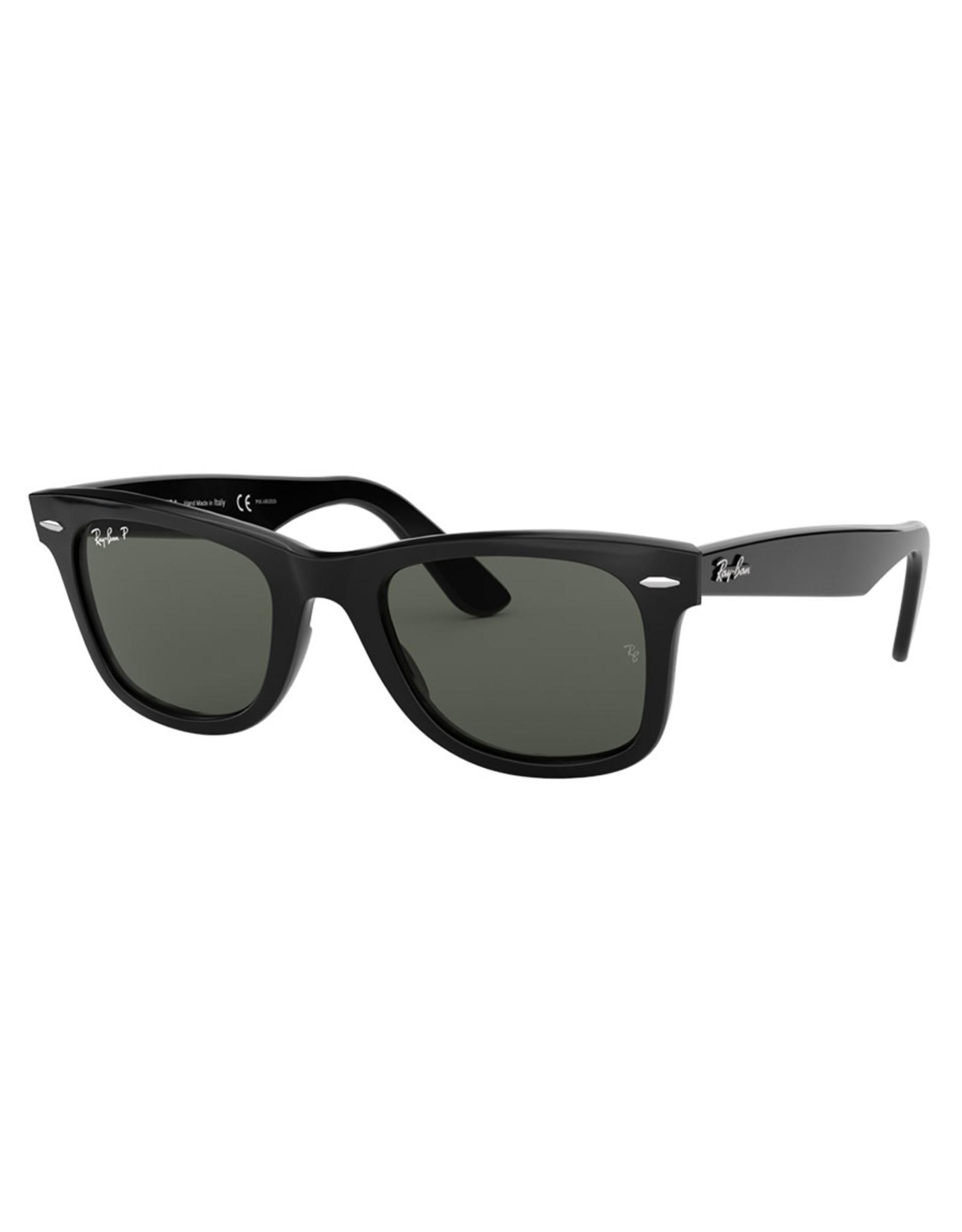 Ray Ban Ray Ban Sunglasses RB2140 Original Wayfarer (50F/Black Gloss/Polarized Green Lens)