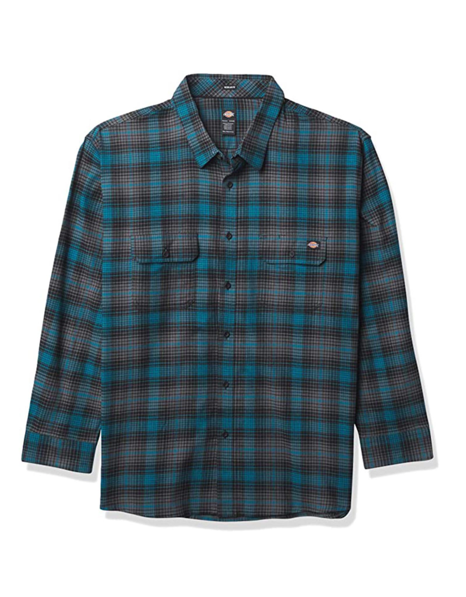 Dickies Dickies Flannel Regular Fit Flex (Deep Sky/Black Plaid)