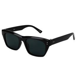 Glassy Sunglasses Glassy Sunglasses Santos (Black Gloss/Grey Polarized Lens)