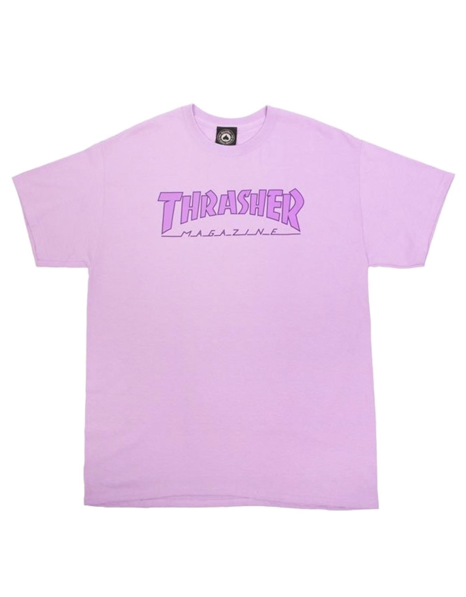 Thrasher Thrasher Tee Mens Outlined S/S (Purple)