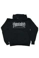 Thrasher Thrasher Hood Mens Flame (Black/Black)