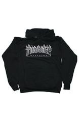 Thrasher Thrasher Hood Mens Flame (Black/Grey)