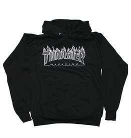 Thrasher Thrasher Hood Mens Flame (Black/Grey)