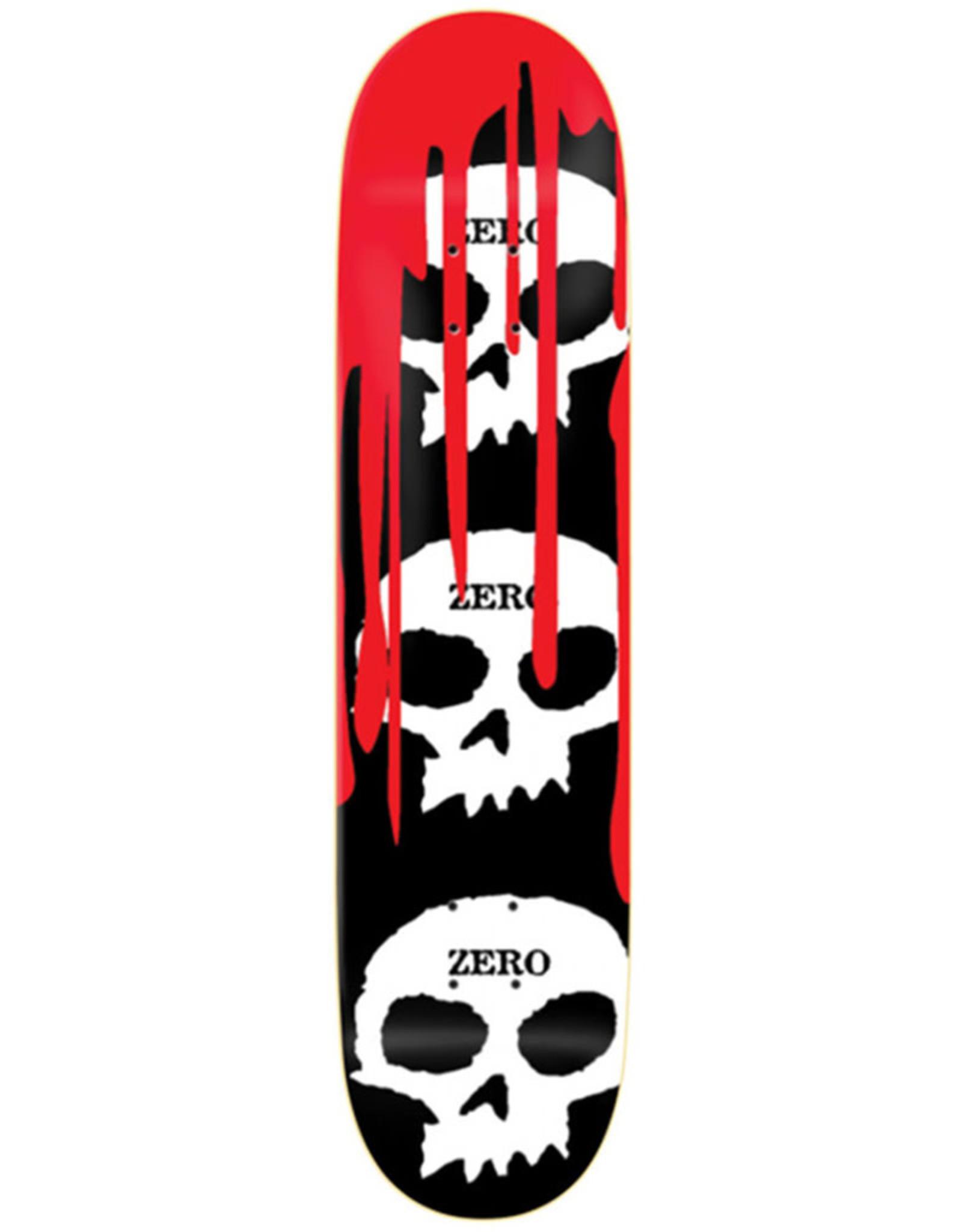 Zero Skateboards Zero Deck Team 3 Skull Blood (7.25)