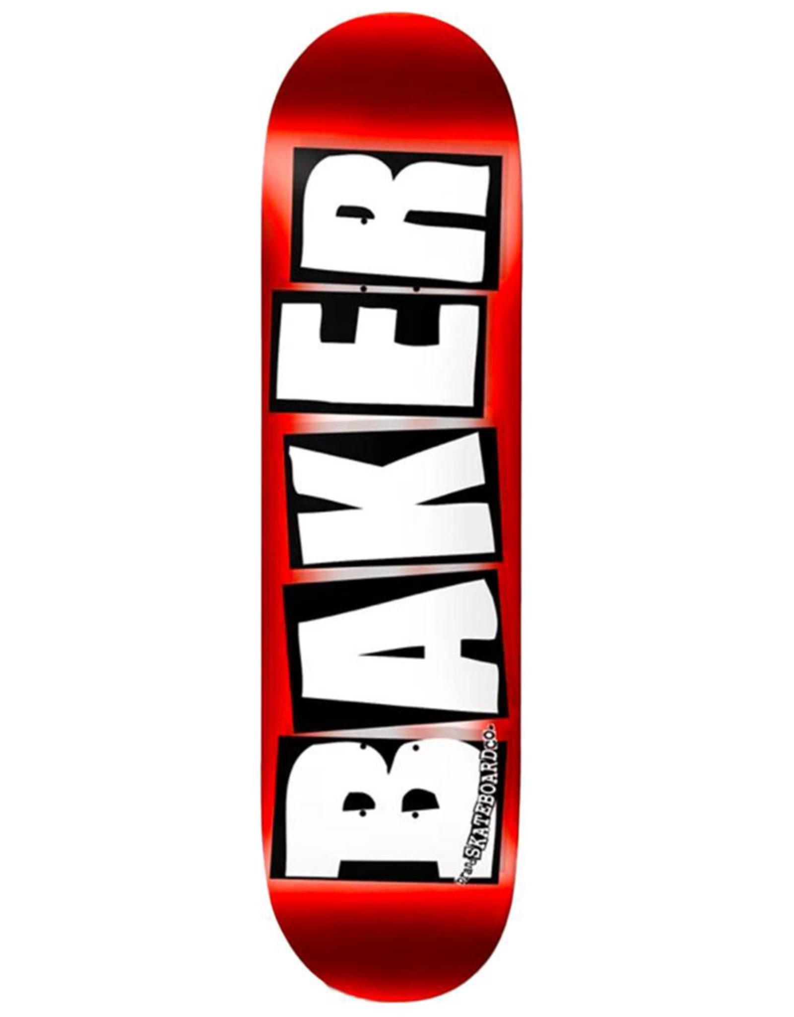 Baker Baker Deck Team Brand Logo Red Foil (8.0)