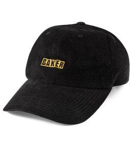 Baker Baker Hat Brand Logo Cord Snapback (Black)