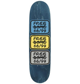 Freedome Free Dome Deck 66/99 Classic Cyan/Yellow (8.0)