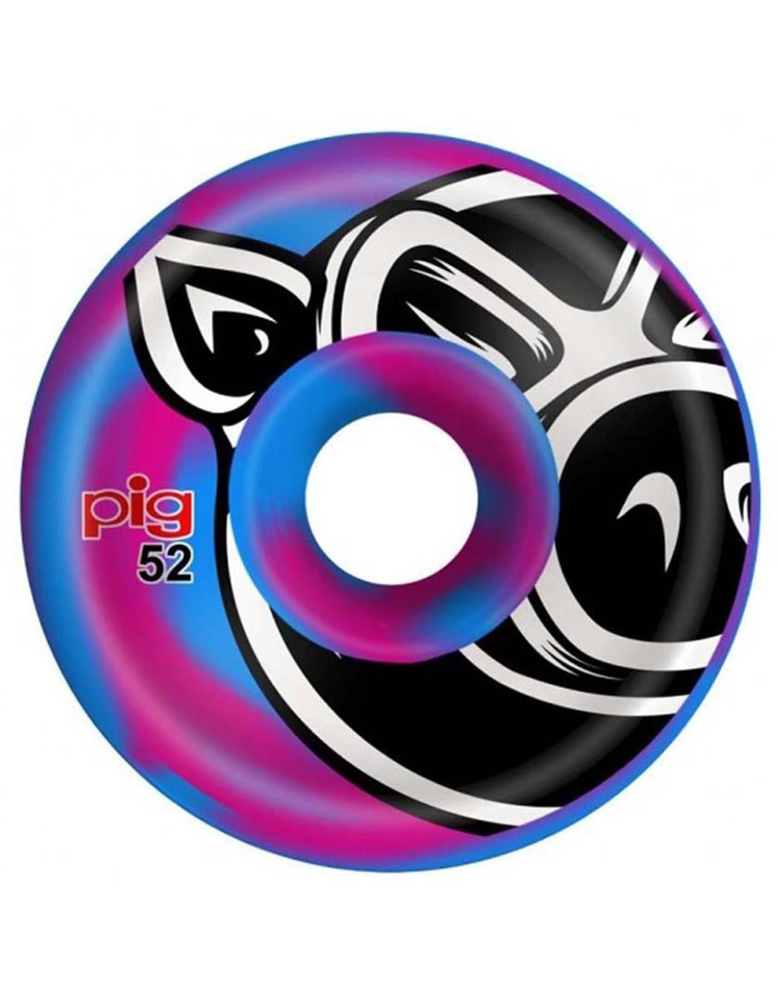 Pig Pig Wheels Head C-Line Blue/Pink Swirl (52mm)