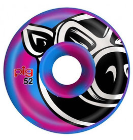 Pig Pig Wheels Head C-Line Blue/Pink Swirl (52mm)