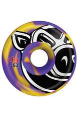 Pig Pig Wheels Head C-Line Purple/Yellow Swirl (53mm)