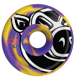 Pig Pig Wheels Head C-Line Purple/Yellow Swirl (53mm)