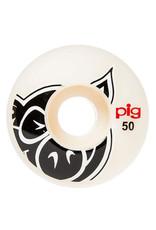 Pig Pig Wheels Head Natural White (50mm)