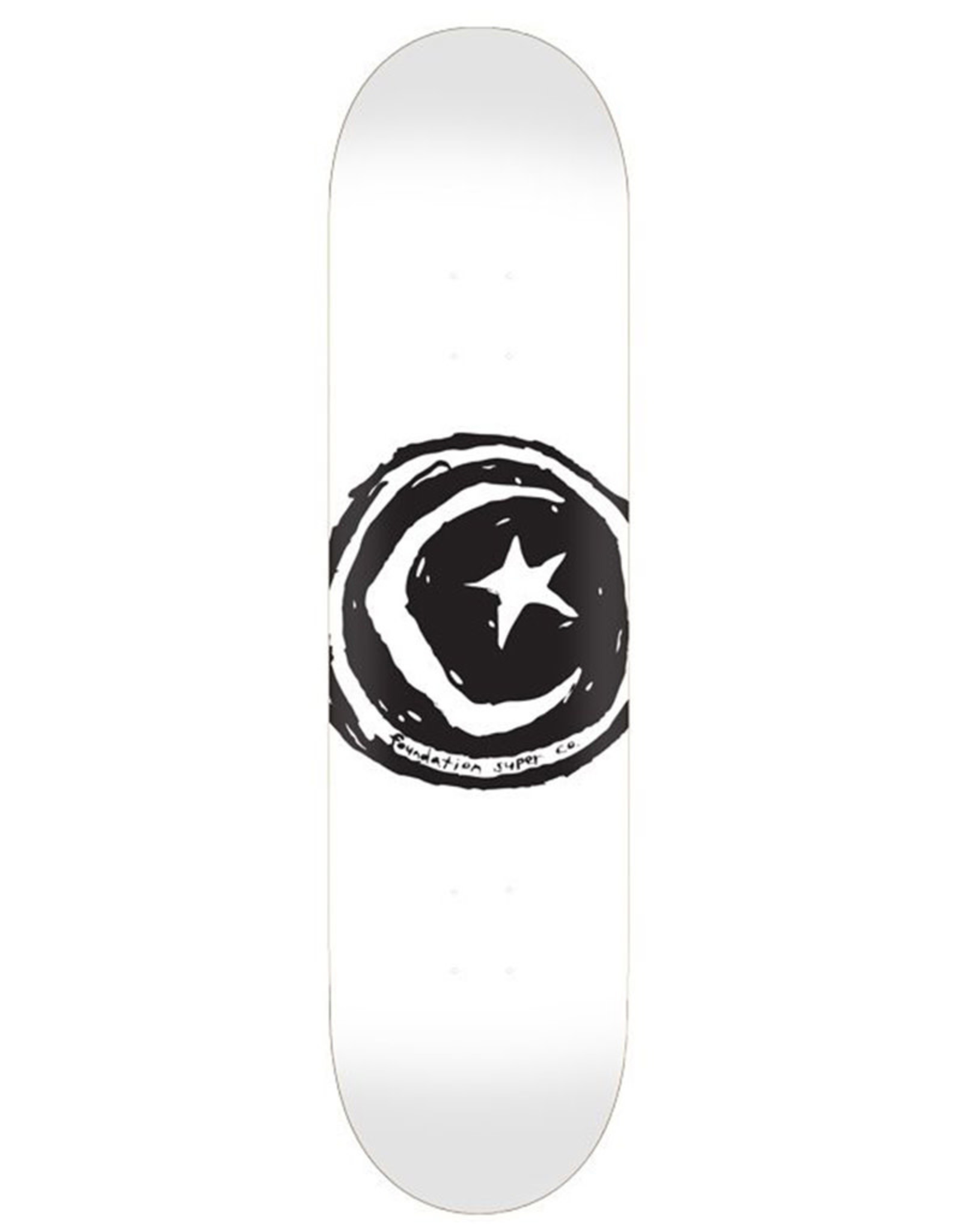 Foundation Foundation Deck Team Star And Moon White (8.25)