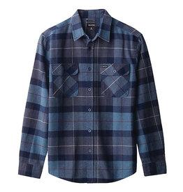 Brixton Brixton Bowery L/S Flannel (Navy/Carolina Blue)